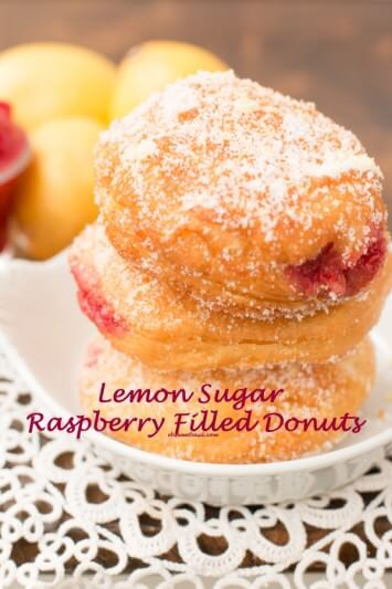 These donuts!! Oh my goodness! Lemon sugar and stuffed with fresh raspberry puree! ohsweetbasil.com