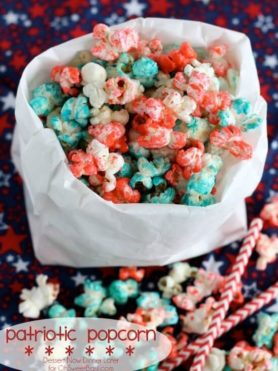 Patriotic Popcorn, 4th of July, summer food