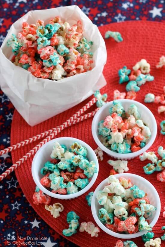 Patriotic Popcorn, 4th of July, summer food
