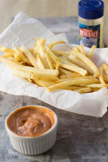Perfectly-crisp-on-the-outside-and-tender-in-the-center-french-fries-just-like-our-favorite-takeout-and-that-special-sauce-is-amazing-ridiculously-amazing.-ohsweetbasil.com-4