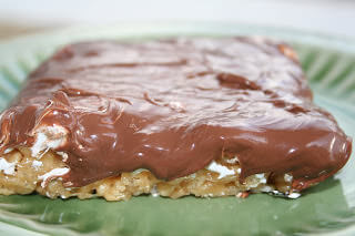 gooey peanut butter s'mores rice krispies ohsweetbasil.com