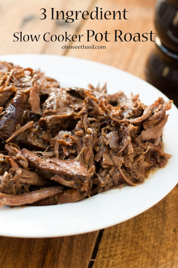 our favorite slow cooker pot roast recipe! ohsweetbasil.com