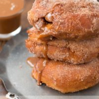 these dulce de leche churro donuts were a huge hit with our family. Like, HUGE! ohsweetbasil.com breakfast, brunch