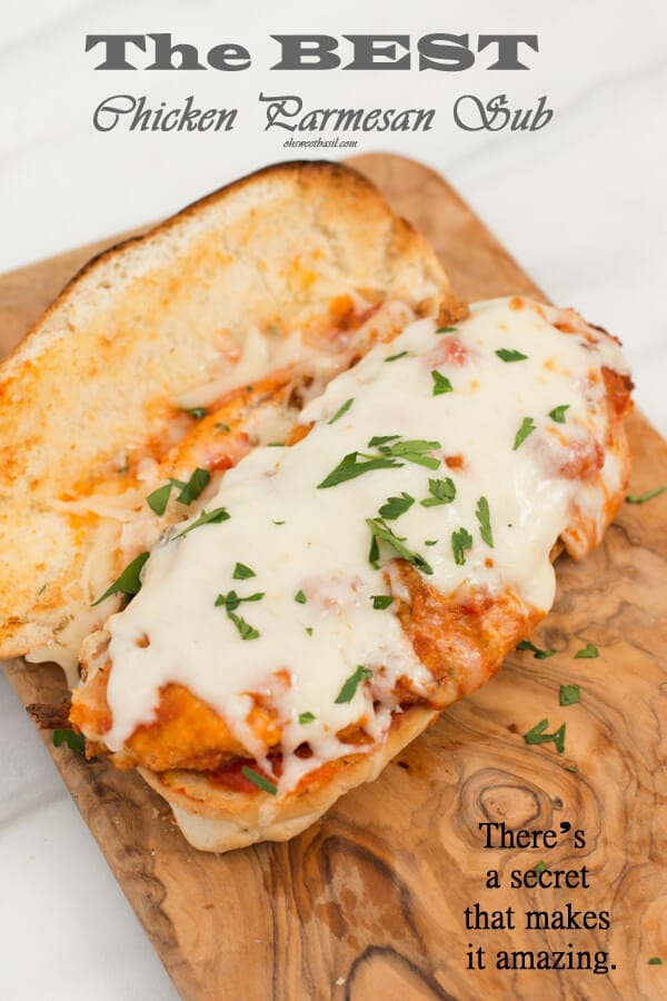 easy chicken parmesan subs ohsweetbasil.com