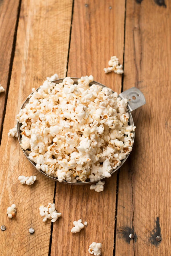 easy kettle corn at home! We love making this once the kids are in bed! ohsweetbasil.com