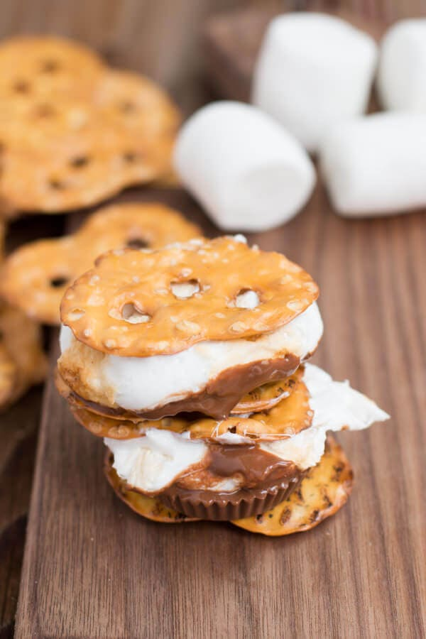 pretzels, reese's and toasted marshmallows! ohsweetbasil.com