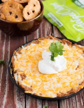 The perfect refried beans dip ohsweetbasil.com