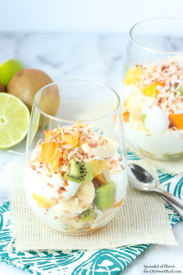 Tropical Fruit Yogurt Parfait for Oh Sweet Basil