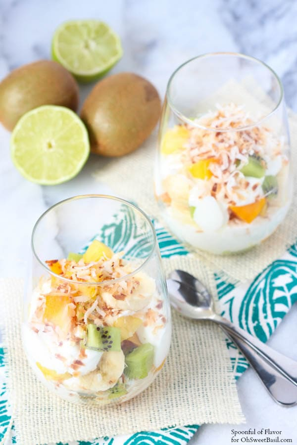 Tropical Fruit Yogurt Parfait - the perfect breakfast or snack!