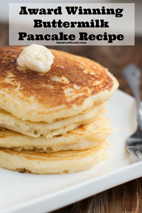 Melt In Your Mouth Buttermilk Pancakes Video Oh Sweet Basil