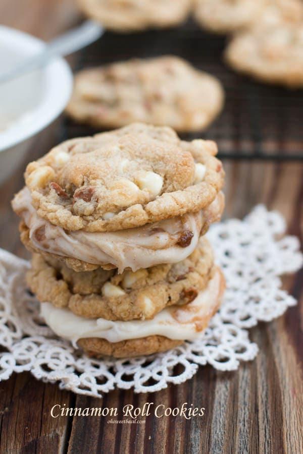 Cinnamon Roll Cookies - Oh Sweet Basil