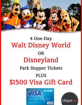 Disney Park Hopper Giveaway Plus $1500