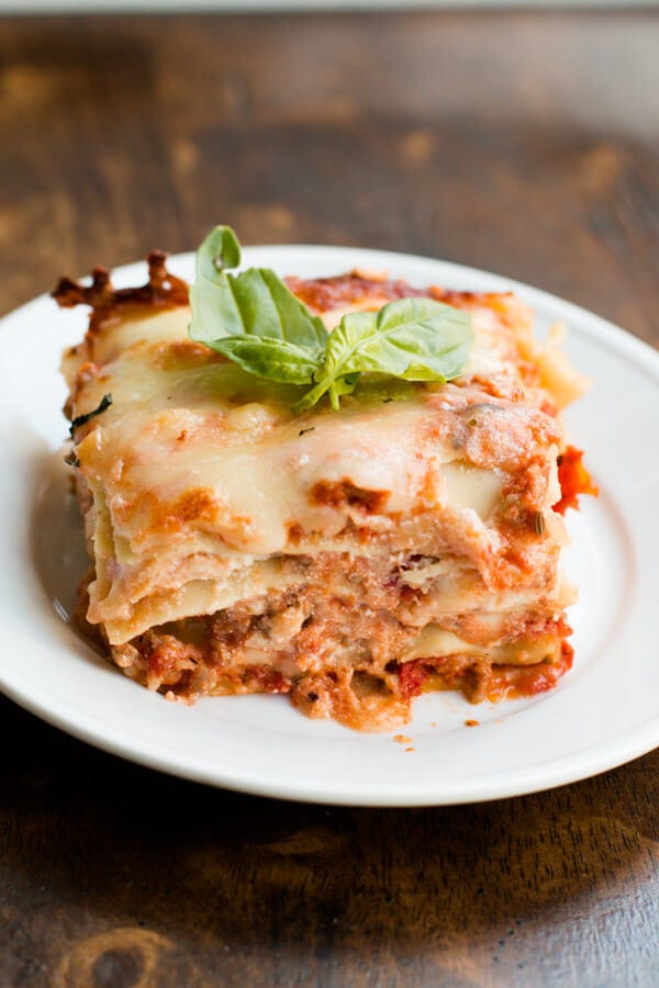 easy homemade lasagna with sweet cheddar that also happens to be the best recipe ever ohsweetbasil.com