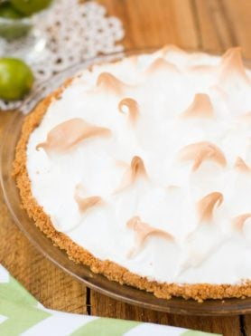 the best ever key lime meringue pie! ohsweetbasil.com