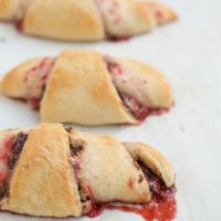 perfect for kids that need a quick and easy treat, nutella pb&j crescents! ohsweetbasil.com