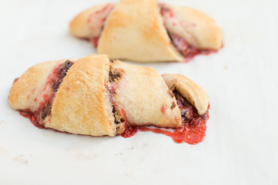 nutella peanut butter and jelly crescent rolls ohsweetbasil.com