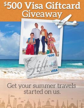 $500 Visa Giftcard Giveaway