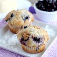 Coconut Blueberry Muffins | Dessert Now Dinner Later for OhSweetBasil.com