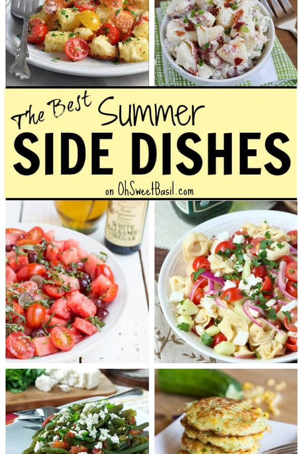 Summer Side Dishes on OhSweetBasil.com