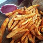 Seasoned Fries with Strawberry Ketchup