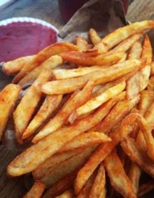 seasoned french fries recipe with srawberry ketchup that is to die for