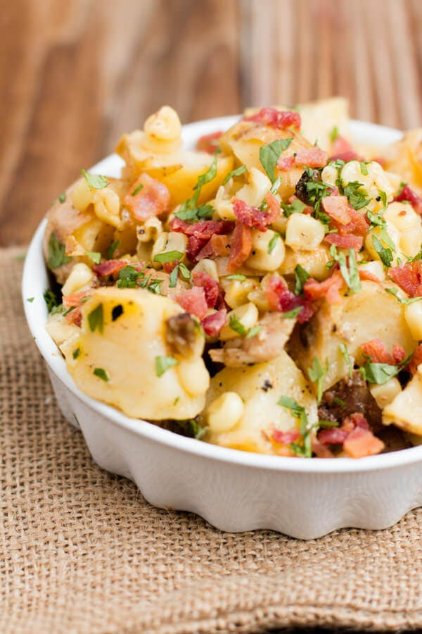 Warm German Potato Salad- the best side ever!! ohsweetbasil.com