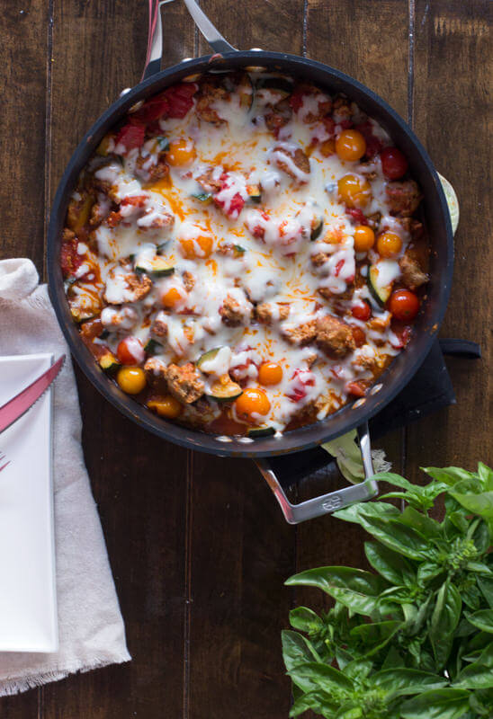 Easy-way-to-use-up-that-bursting-garden-a-cheesy-garden-skillet-Plus-it-can-be-made-with-turkey-meatballs-vegetarian-for-meatlessmonday-or-vegan-ohsweetbasil.com-4