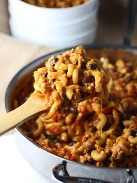 one pot skinny chili macaroni ohsweetbasil.com