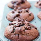 Double Chocolate Banana Muffins- the best thing ever! ohsweetbasil.com