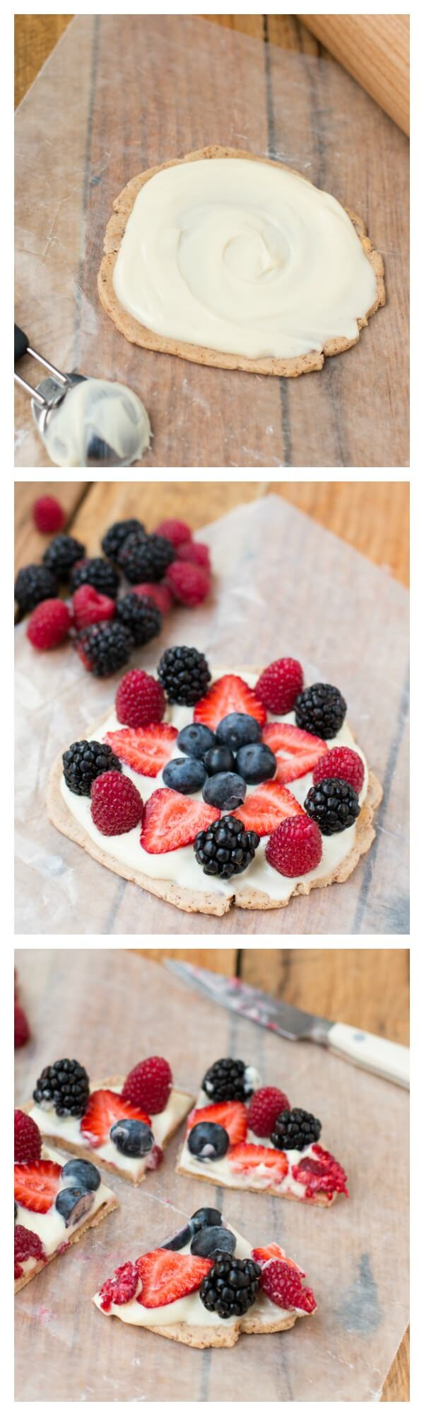 easy fruit pizza that's so good for you! ohsweetbasil.com