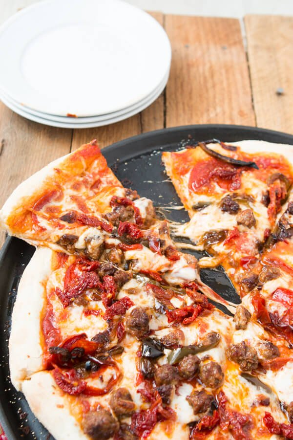 We call it the Little Italy or Italian Lovers Pizza. It's seriously our absolute favorite recipe! ohsweetbasil.com
