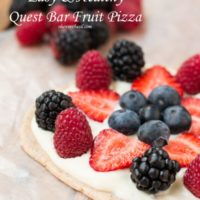 Now that's how to eat a protein bar! Quest bar fruit pizza style! ohsweetbasil.com