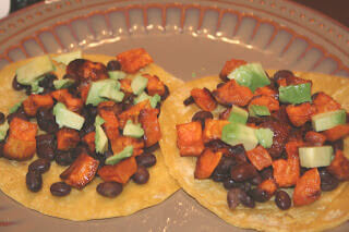 sweet potato tostadas