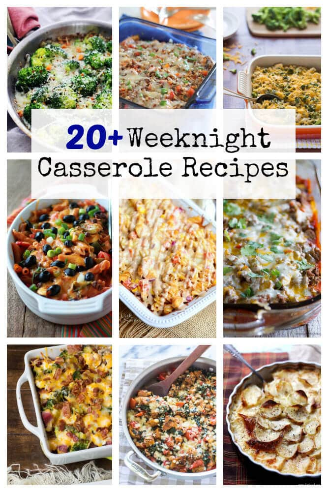 20+ Weeknight Casserole Recipes on Oh Sweet Basil