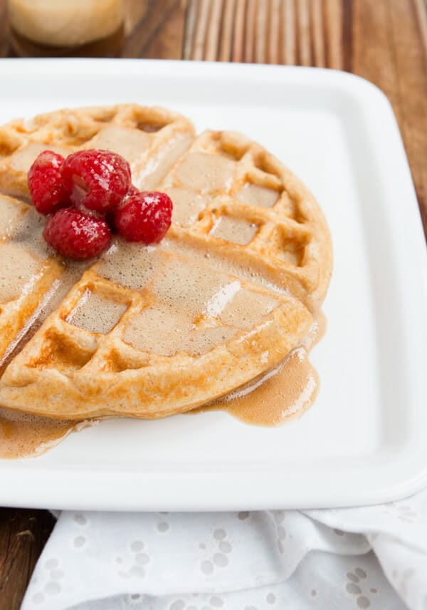 Homemade creamy buttermilk maple syrup that will blow your mind! ohsweetbasil.com