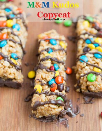 These are awesome!! Peanut butter m&m kudos copycat recipe ohsweetbasil.com