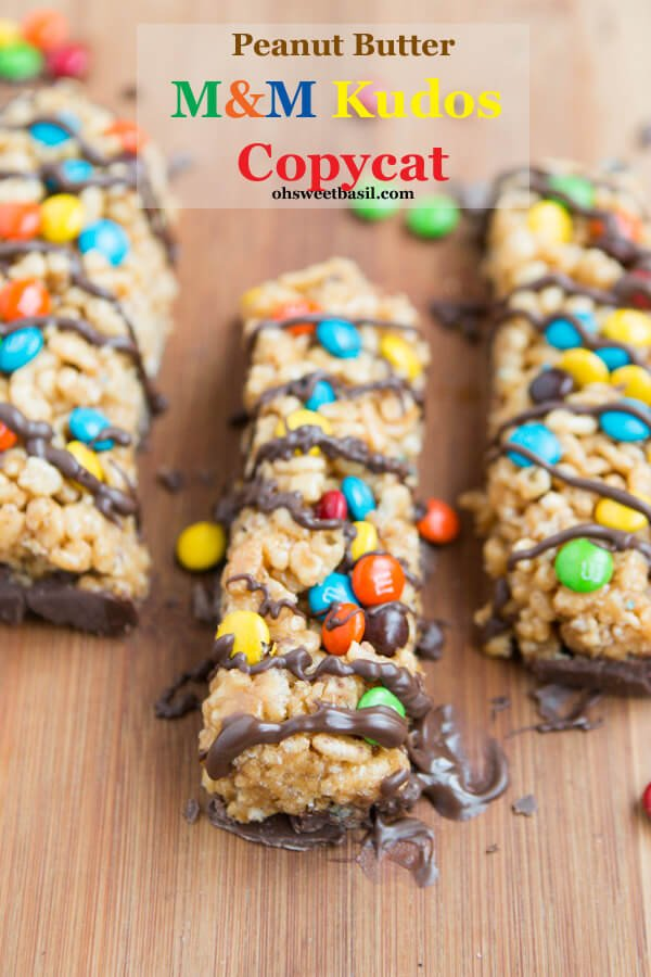 These are awesome!! m&m kudos copycat recipe ohsweetbasil.com