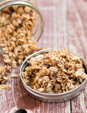 Pecan Quinoa Granola #thinkfisher ohsweetbasil.com