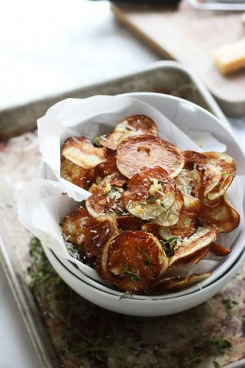Crispy-Baked-Potato-Chips-with-Garlic-Thyme-and-Parmesan-2