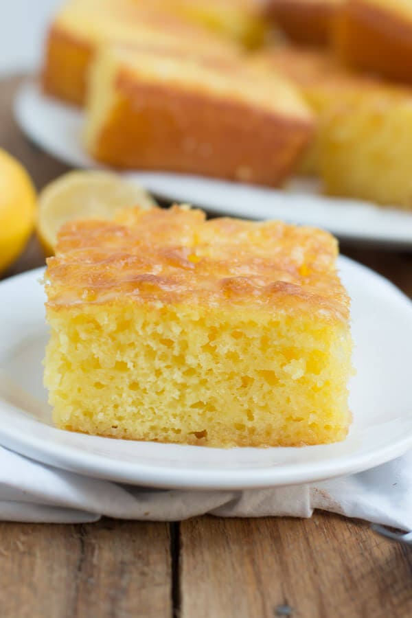 easy lemon jello cake ohsweetbasil.com