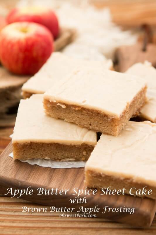 Fall sheet cake! Apple butter spice sheet cake with brown butter ...