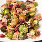 Holiday Side Dish Recipe. Candied Pecans, bacon and brussel sprouts ohsweetbasil.com