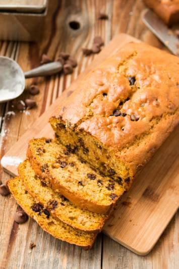the best chocolate chip pumpkin banana bread ohsweetbasil.com