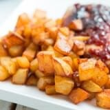 Easy fried potatoes ohsweetbasil.com