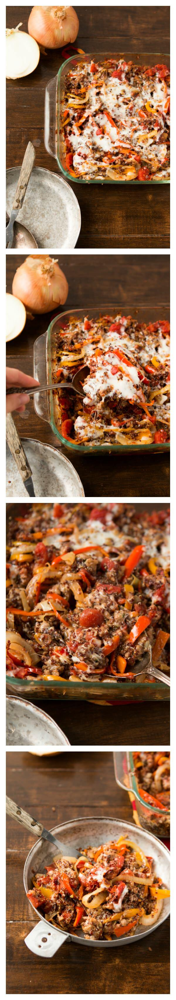 Quinoa Stuffed Peppers Casserole has become our KIDS' favorite as well as ours. Gotta love that! ohsweetbasil.com