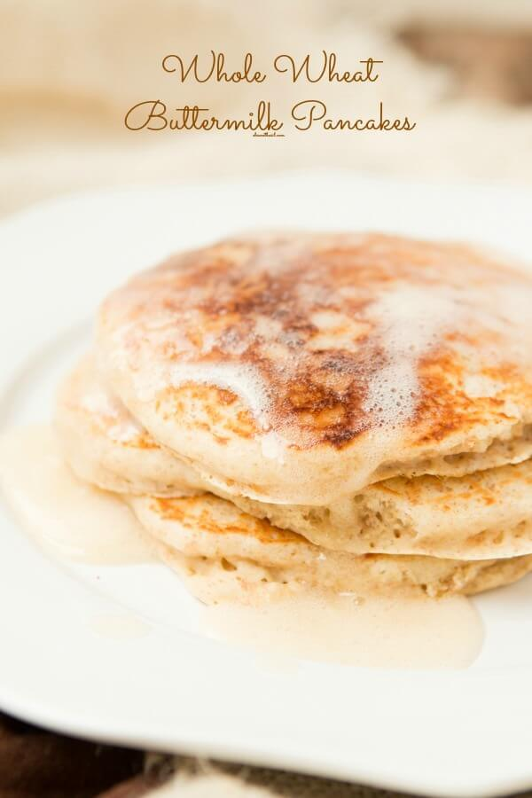 These were awesome! Whole Wheat Buttermilk Pancakes have never been so fluffy! ohsweetbasil.com