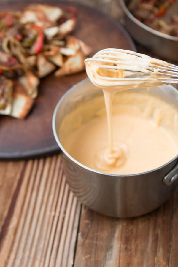 Easy 4 ingredient Cheese Sauce ohsweetbasil.com