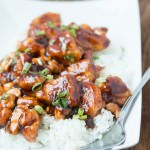 Quick and Easy Cashew Chicken that even the kids eat! ohsweetbasil.com