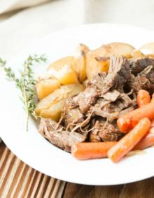 The easiest and best slow cooker pot roast with potatoes and carrots ohsweetbasil.com