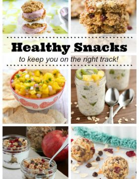 Healthy Snack Recipes to keep you on the right track this year!